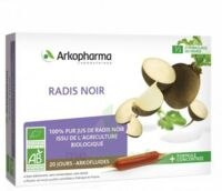 Arkofluide Bio Ultraextract Radis Noir Solution Buvable 20 Ampoules/10ml à VALENCE