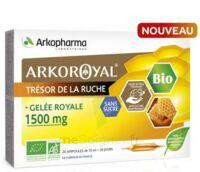 Arkoroyal Gelée Royale Bio Sans Sucre 1500mg Solution Buvable 20 Ampoules/10ml à VALENCE