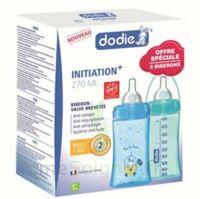 Dodie Initiation+ Biberon Tétine 3vitesses Débit 2 Bleu 270ml Coffret/2 à VALENCE