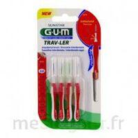 Gum Trav - Ler, 0,8 Mm, Manche Rouge , Blister 4 à VALENCE