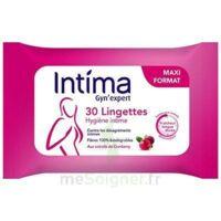 Intima Gyn'expert Lingettes Cranberry Paquet/30 à VALENCE