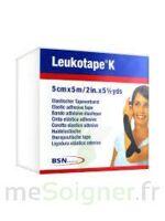 Leukotape K Sparadrap Noir 5cmx5m à VALENCE