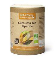 Nat&form Eco Responsable Curcuma + Pipérine Bio Gélules B/200 à VALENCE