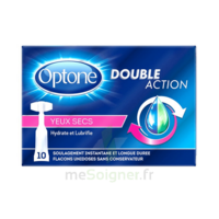 Optone Monodose Double Action Solution Oculaire Yeux Secs B/10 à VALENCE